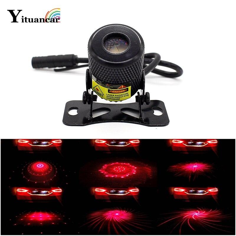 Yituancar 6 Logos Ändern LED Auto Styling Anti-Kollision Laser Warnung Licht Auto Anti Parkplatz Stop Motorrad Externe Nebel lampe