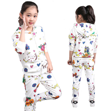 Kids Clothes Spring and Autumn 2016 Girls Sets New Child Foral Print Sport Suits Girls Children