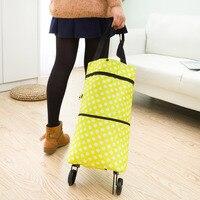 2017 Oxford Foldable Bag New Reusable Shopping Bag Trolley Bags On Wheels On Wheels Shopping Bags