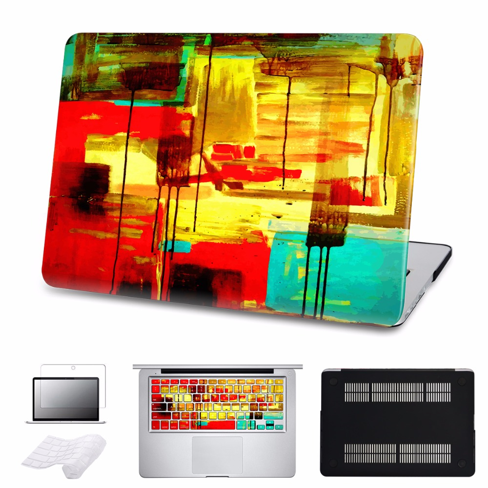 5 in 1 Bundle For Macbook Air/Pro 11 12 13 15 Ratina Case Cover New 2016 Touch Bar Laptop Hard Cases Shell Sleeve A1534 A1278 100pcs lot 13inch 15inch 17inch for macbook pro a1278 a1286 a1297 bottom cover rubber feet
