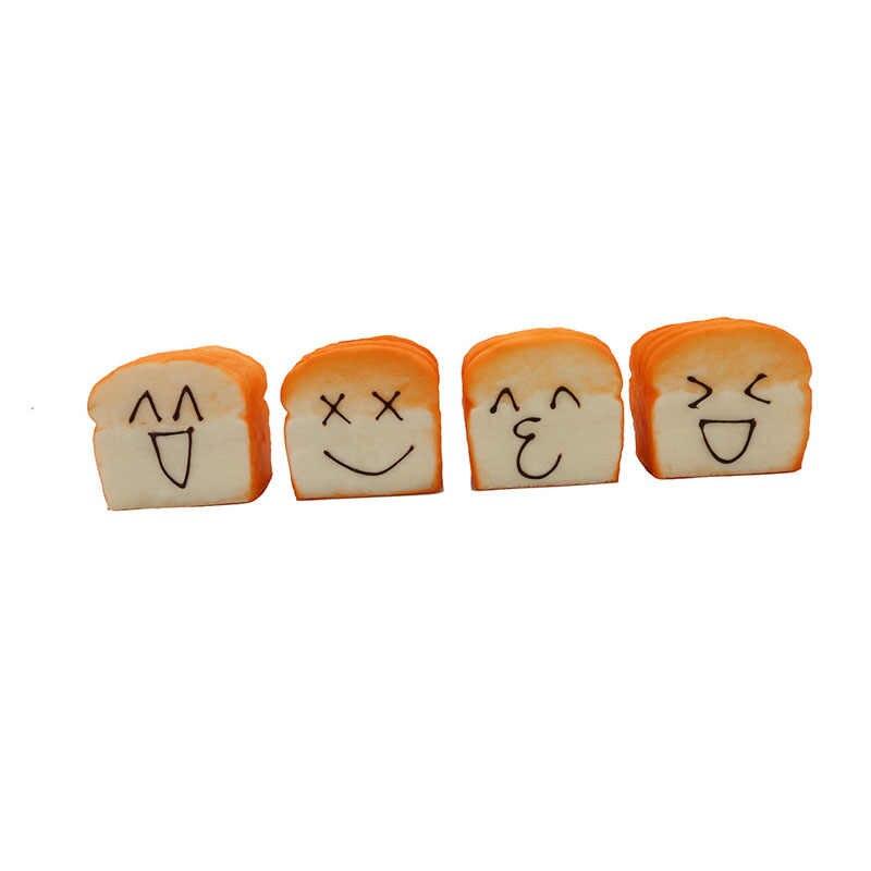 Моделирование искусственный хлеб Кухня украшения модель PU Материал Kawaii уход за кожей лица Большой тост ломтики торта витрина магазина