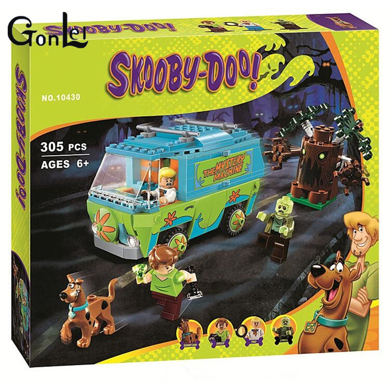 10430 10428 10429 Scooby Doo The Mystery Machine Building Blocks Toys Set Bricks Boy Kid Toys educational For Children sermoido 305 pcs building blocks scooby doo the mystery machine 75902 model compatible figure toy for children b46