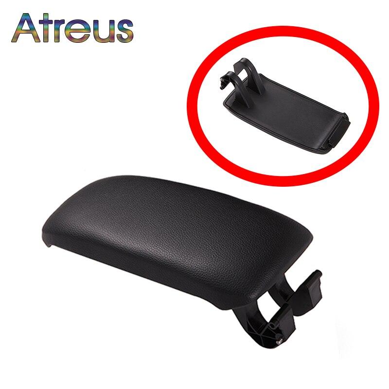 Atrée 1 pcs En Cuir/Tissu Voiture Center Console Accoudoir Couverture Autocollants Pour Audi A3 8 p Audi A5 Accessoires 2003-2012 8P0864245P8E1