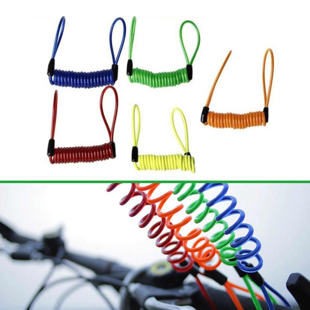 2018 Portable Universal 1.2M Kawat Sepeda Lock Spring Pengingat Anti-Theft Lock Tali untuk Sepeda Motor Sepeda Skuter Safety lanyar