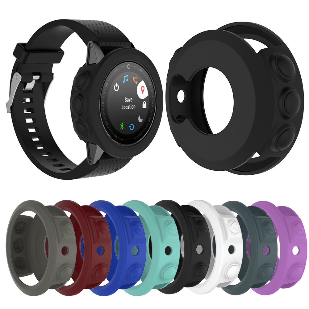 Silicone Protective Case Cover For Garmin fenix 5/5S/5X Wristband Bracelet Protector Shell for Garmin Fenix 5x 5s 5 Smart Watch butterfly series plastic back case protective cover for iphone 5 5s