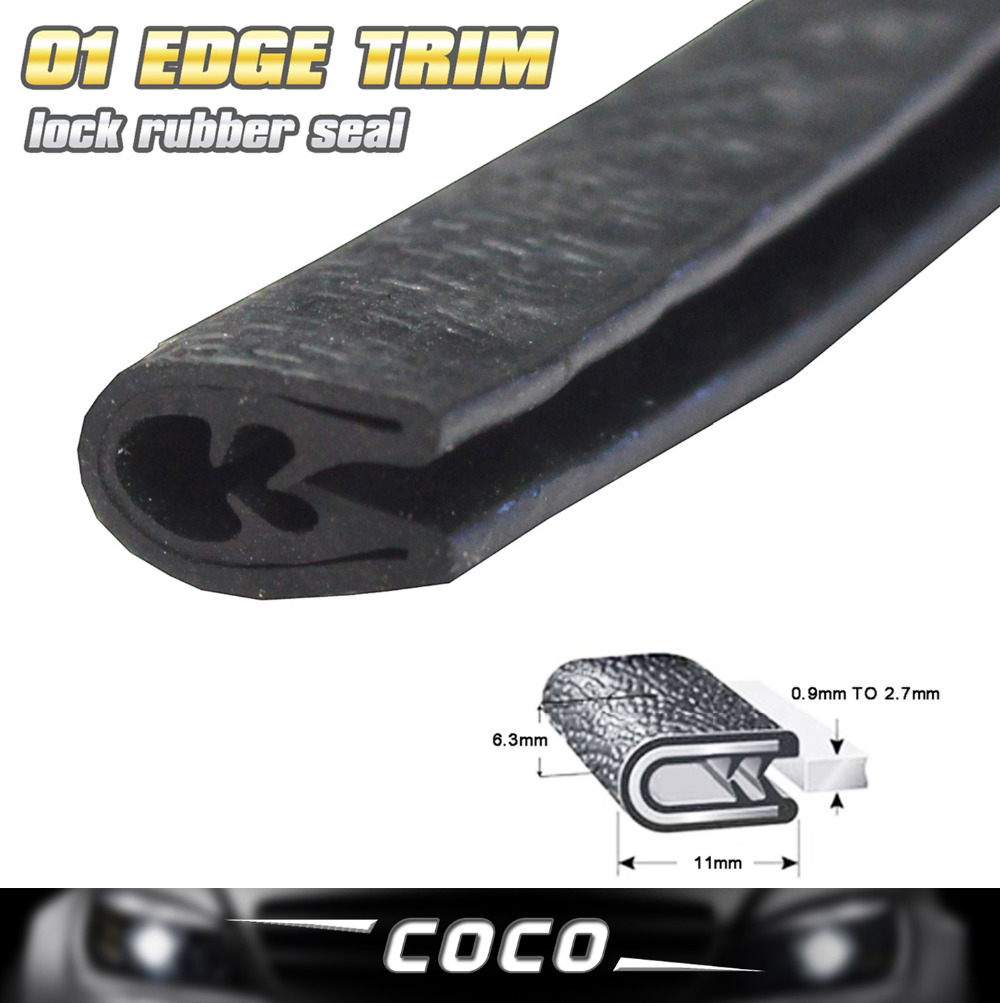78 200cm Black Rubber font b Interior b font Exterior Protector Car EDGE TRIM Seal Strip