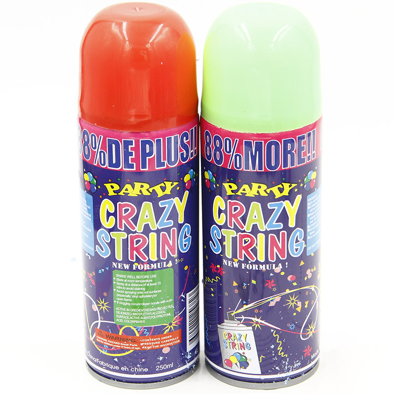 Spray Silly String Surprises Play Wedding Any-Celebration Fun For Parties And Lots Of