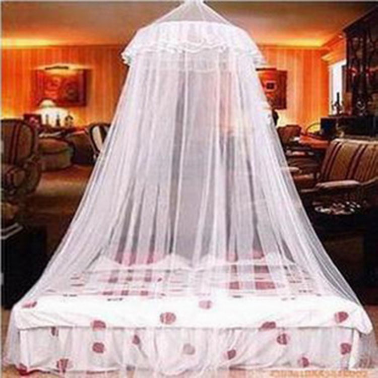 Online Shop New Decoration White Pink Insect Fly Bed Canopy Netting Curtain Dome Mosquito Net For Double Bed Free Send Hook Aliexpress Mobile