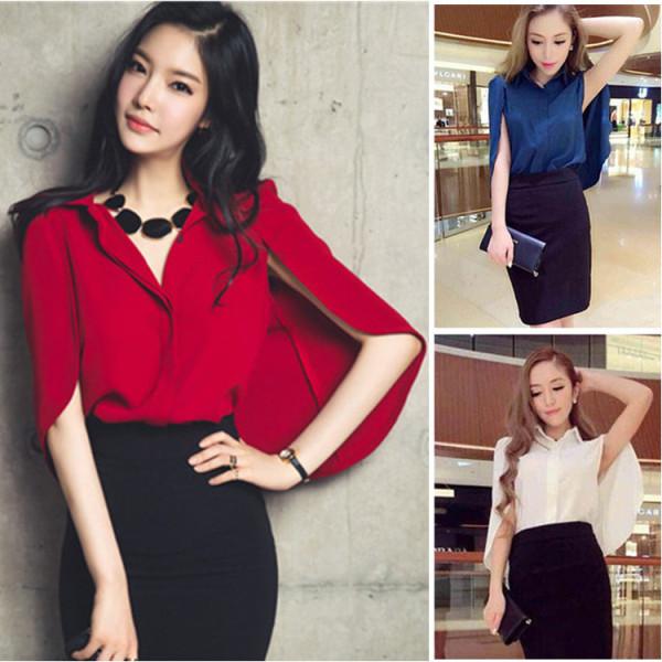 Womens-2-Piece-Set-Summer-Style-Short-Bat-Sleeve-Chiffon-Blouse-Shirt-Cloak-Women-Knee-Length (5)