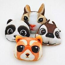 3D Animal Face Pattern Zipper Adorable Cartoon Wallet Bag Keys Pouch Coin Purse BVLR
