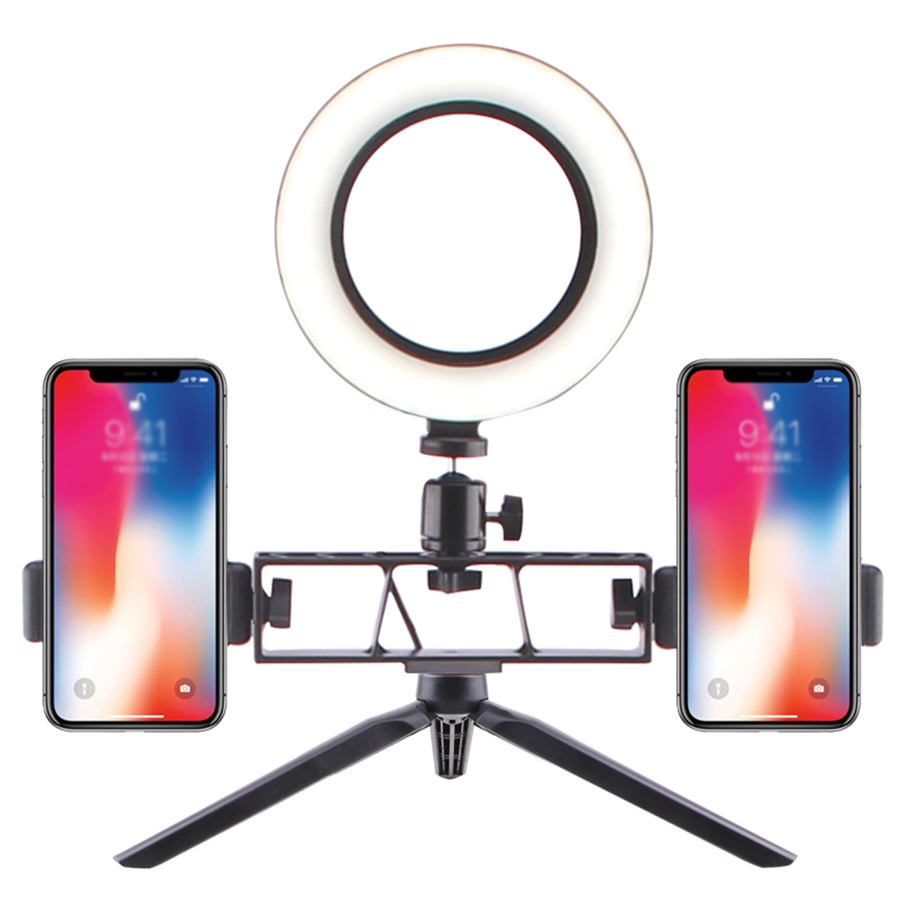 Photography makeup LED Selfie Light 160MM Dimmable Camera Phone Lamp with Table Tripods for Anchors Live