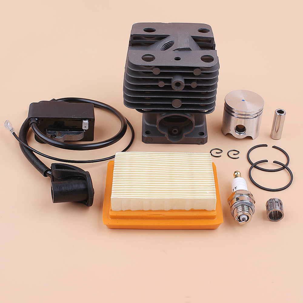 Tools : 35MM Cylinder Piston Ignition Coil Air Filter Kit For STIHL FS120 FS120R FS250 FS250R FS200 FS200R BT121 BT120 GRASS TRIMMER