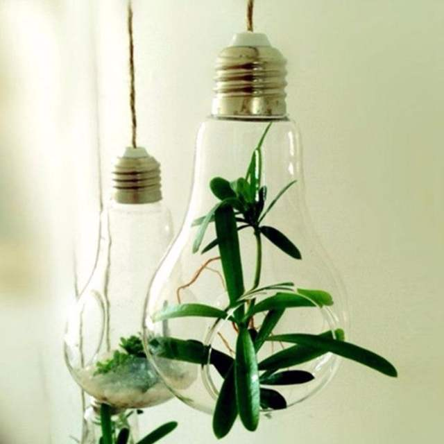 Online Shop New Glass Bulb Lamp Shape Flower Water Plant Hanging