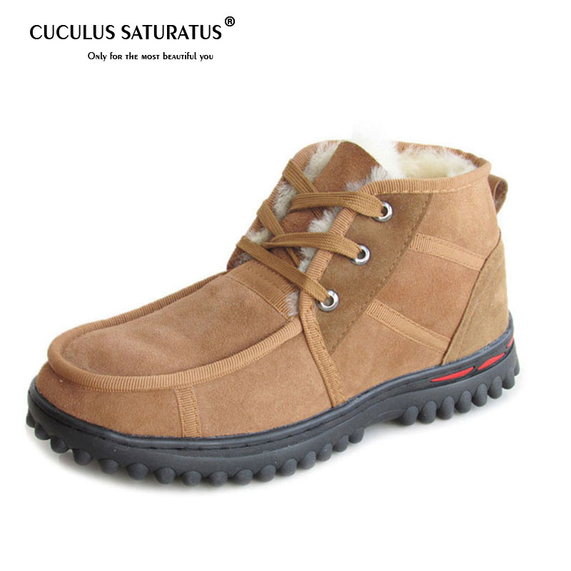Cuculus Новая мужская зимняя обувь однотонные зимние сапоги Для мужчин мех внутри на нескользящей подошве Утепленная одежда Сапоги 455