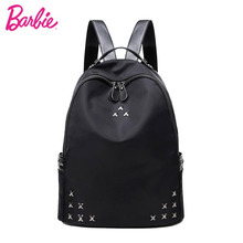 цены Barbie New Bags Black Backpack Small Fashion Casual Preppy Style Trend Brief Shoulder Bag For Students Young Girls Women Bags