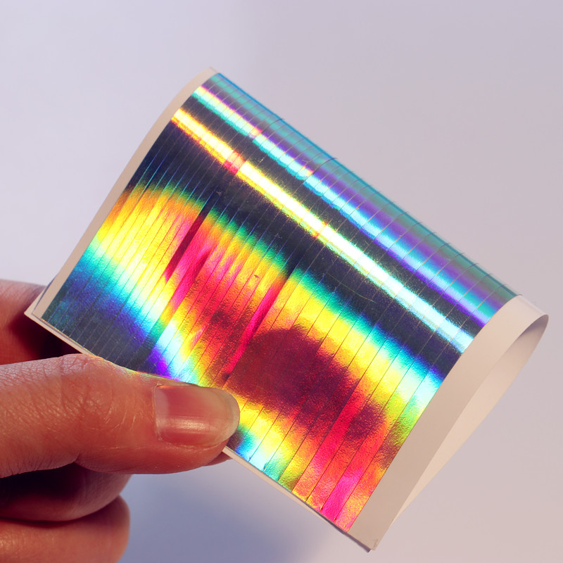 1 Sheet Holographic Strip Tape Nail Art Stickers Ultra Thin Laser Silver Stripe Line Sticker DIY Foil Decal Stickers