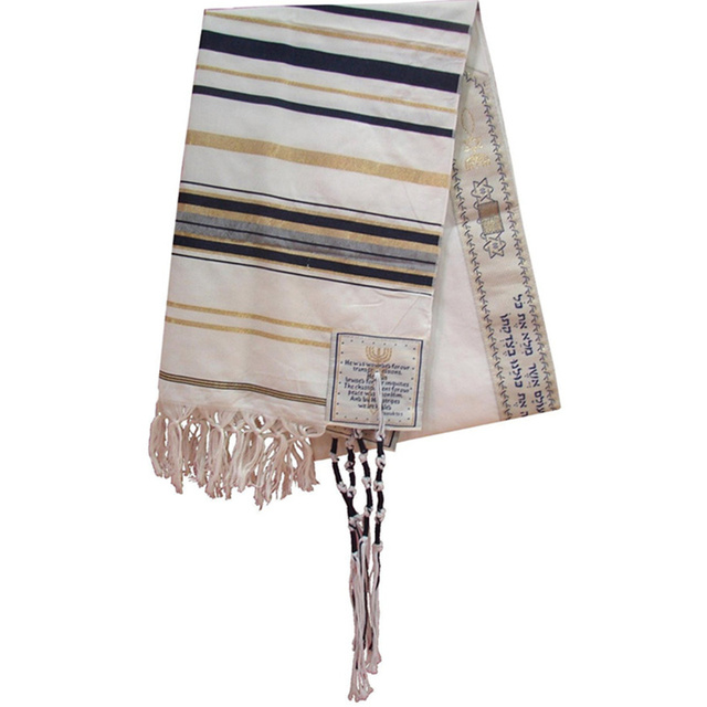 Free Shipping Tallits Geometric Adult Unisex Winter hot Sale Polyester And Pashmina Messianic Tallit Prayer Scarf