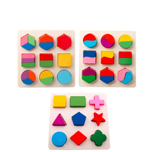 hot deal buy colorful geometric shape puzzle baby kids wooden learning educational toys children 3d shapes wood jigsaw puzzles brinquedos