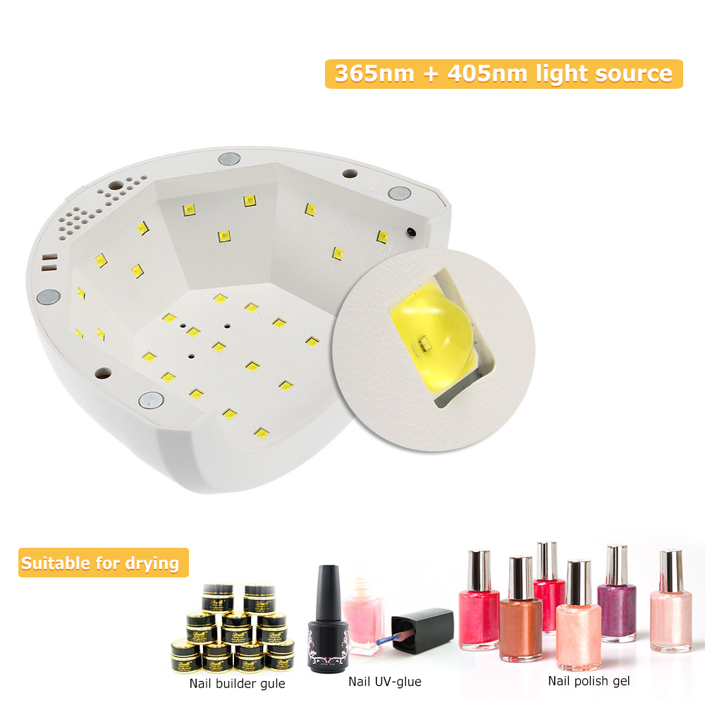 Abody SUNone 24/48W LED Nail Dryer White Light UV Lamp Nail Manicure ...
