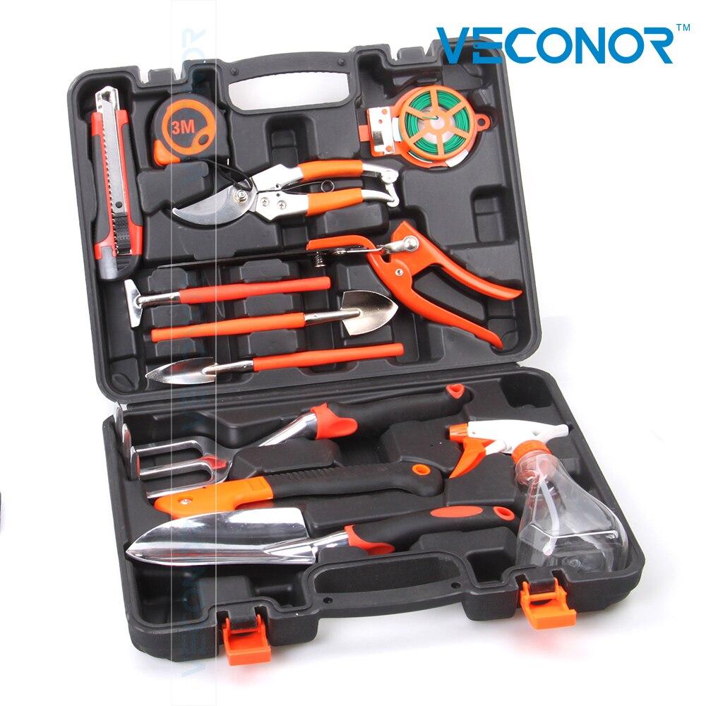12pcs garden hand tool set kit household tool kit garden rake shovel grass shears secateurs стоимость