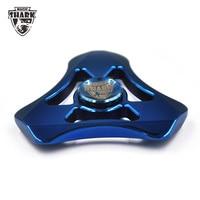 MagicShark Tri Fidget Spinner LED Light Aluminum Hand Spinner Glow In The Dark Finger Spinner Anti
