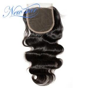 Image 3 - חדש כוכב שיער פרואני גוף גל 3 חבילות עם סגירת תחרה 100% לא מעובד בתולה שיער טבעי Weave הארכת ו 4x4 סגרים