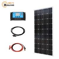 Boguang 100 Вт 18 В комплект системы солнечных батарей фотоэлектрических модулей кабеля контроллера 10A контроллер зарядное устройство RU серийных