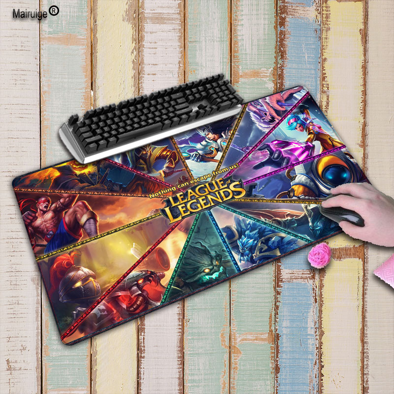 Mairuige League of legends mouse pad gamer play mats Large Gaming Mouse Pad Locking Edge Mouse Mat Keyboard Pad For CSGO LOL цена
