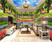 beibehang Customized insulation thickening wall paper gorgeous personality grass house three-dimensional background 3d wallpaper