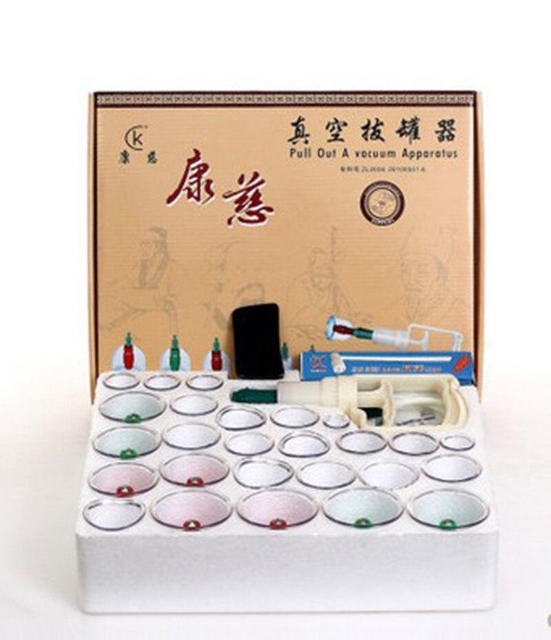 30 Tasses Chinois Massage Relaxation sortir Un Appareil À Vide Vide Cutem Magentic Ventouses Ensemble Dispositif Avec Tube