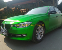 High Quality Matte Brushed Chrome Green Vinyl Wrap Bubble Free For Car Graphic Size 1 52