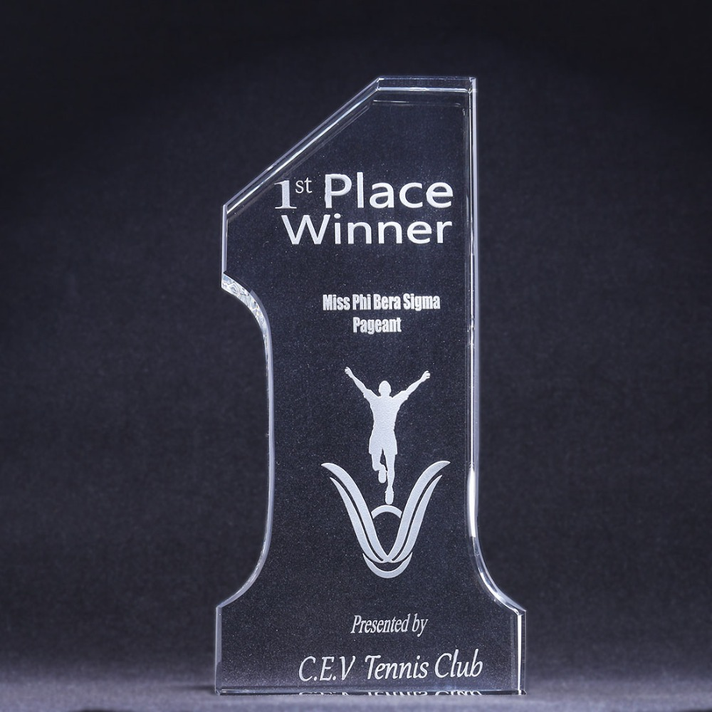 H D You are The Best Personalize Crystal No 1 Award Engraved Trophy for School Office