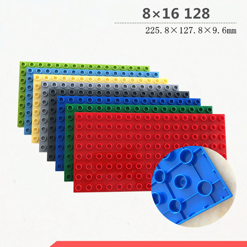 Lego Lot Of 10 Blue 1 x 10 Plates