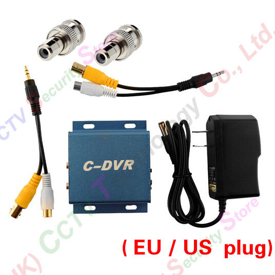 CCTV mini Camera for Micro SD Card Video Record DVR EU US plug BNC Male to RCA Female Adapter 1 pair rca male female for cctv phono rca male plug rca to 2pin spring connector cctv cat5 to camera cctv video bnc balun
