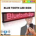 40 polegadas P7 Bluetooth controle emote Levou Placa de exposição Programável Rolagem Mensagem Led Sinal para o Negócio e Armazenar-Vermelho exibição