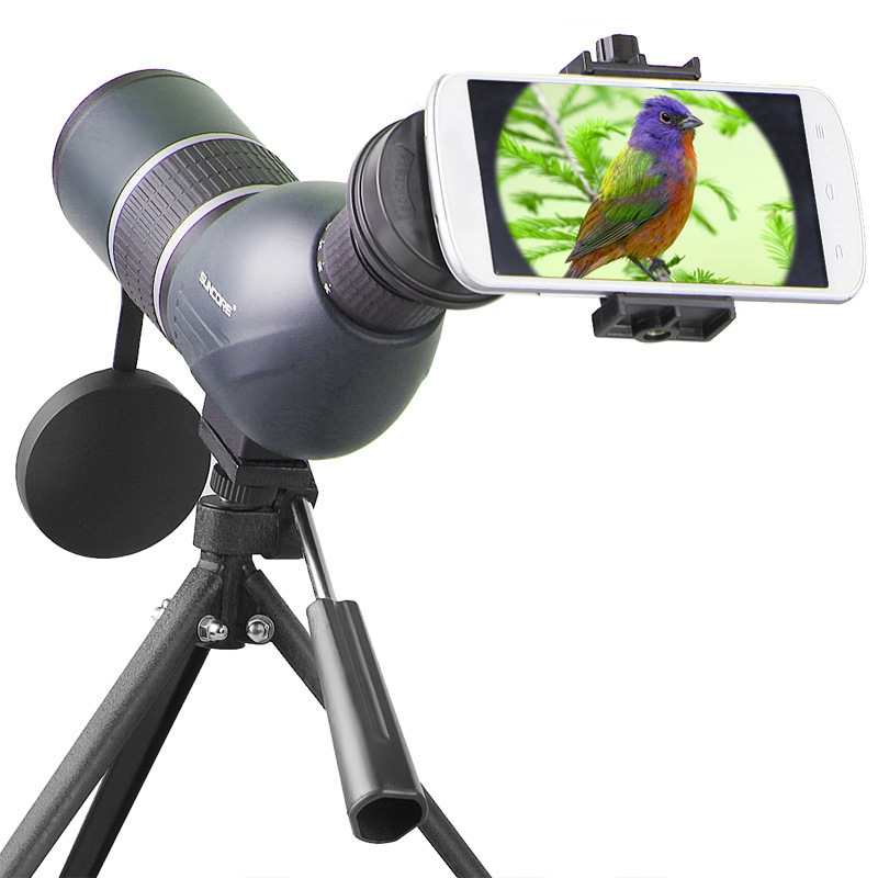 SUNCORE 12-36x50A BAK-7 Blue Prism Glass Monocular Spotting Scope with Tripod Astronomical Telescope for Outdoor Bird Watching suncore water resistant 12 x 25mm monocular telescope