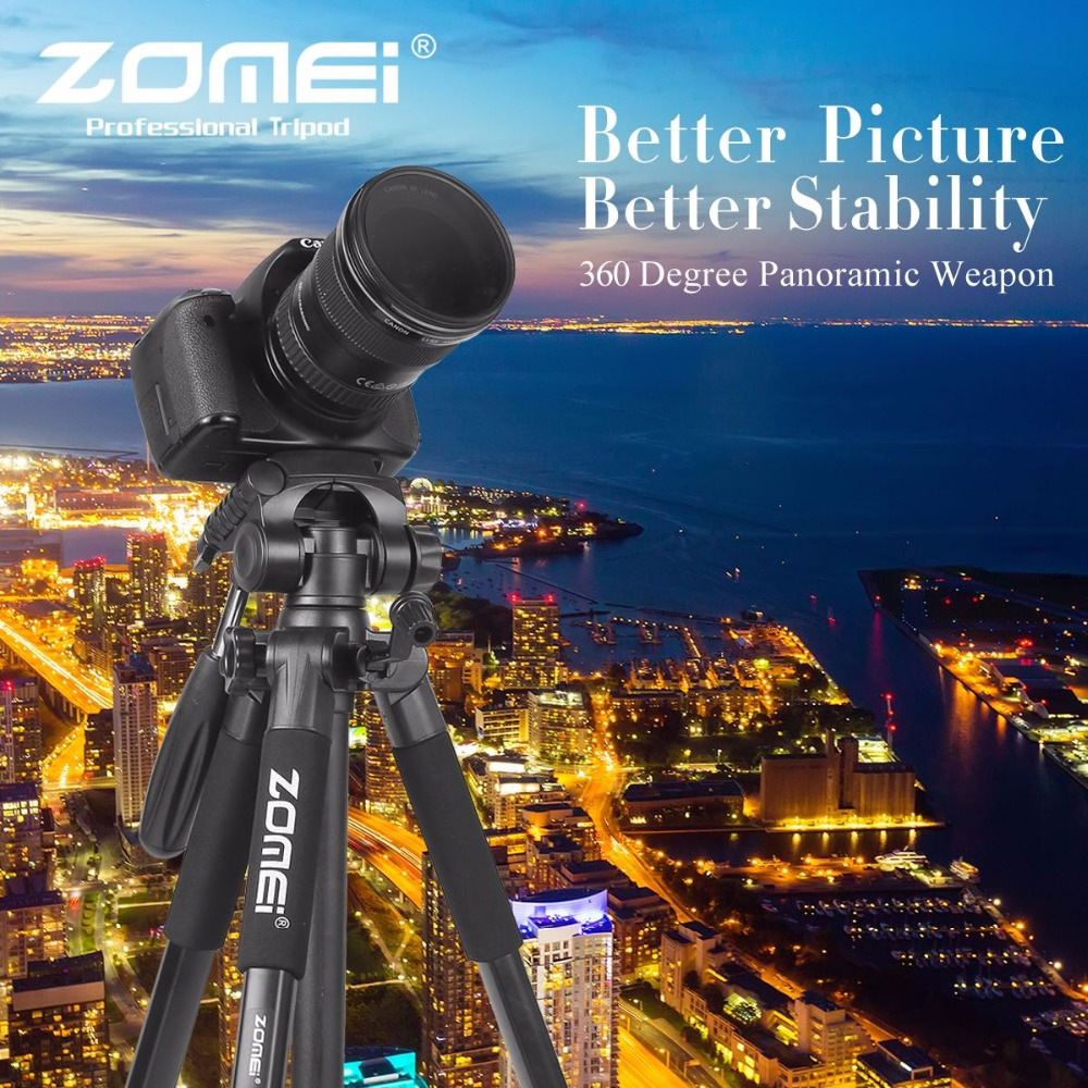 ZOMEI Z666 Portable Pro 56 inch Tripod Compact Lightweight Camera Stand with Quick Release Plate Pan