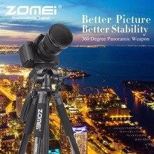 ZOMEI Z666 נייד פרו 56 אינץ חצובה קומפקטי קל משקל מצלמה Stand עם שחרור מהיר צלחת פאן ראש עבור דיגיטלי SLR Canon