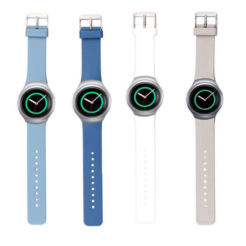 20mm Luxury Watch Bands Silicone Watch Strap For Samsung Galaxy Gear S2 SM-R720 Durable Wristband Correa Reloj New Bracelet Link