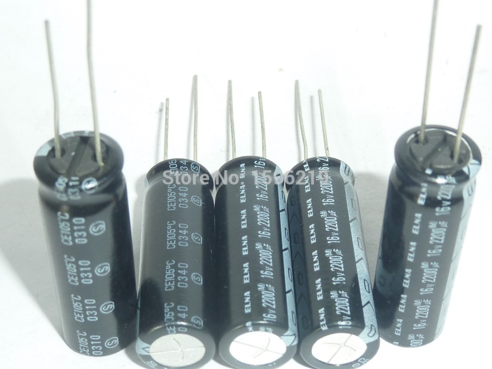 10pcs ELNA RA2 series 2200uF//16V 2200UF 12.5X25mm audio electrolytic capacitor