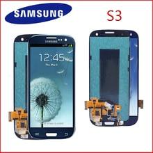 شاشة لمس LCD بديلة ، 4.8 إنش ، بدون بكسل ميت ، لهاتف SAMSUNG Galaxy S3 yat ، أصلي
