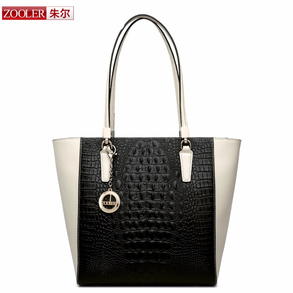 ФОТО ZOOLER Brand bags Animal Print Handbags genuine leather bag Hot sale Alligator pattern top quality Vintage /classic shoulder bag