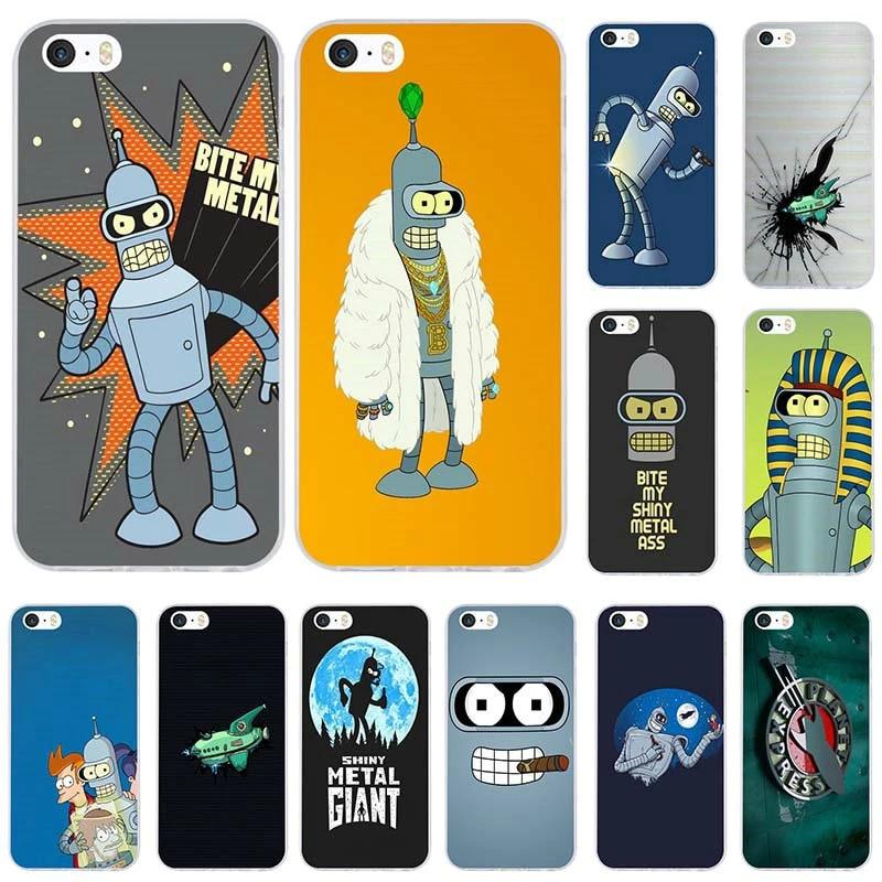 Anime Futurama Soft TPU Mobile Phone Cases Bags for iPhone X XR XS MAX 10 7 6 6s 8 Plus 4 4S 5 5S SE 5C Coque Shell Back Cover