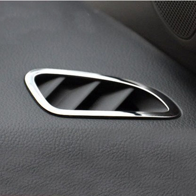 2 stks Rvs Auto interieur Airconditioning Vent Trim cover Sticker ...