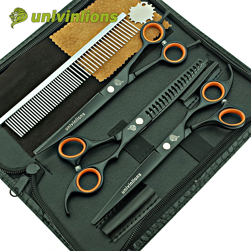 "univinlions 7 ""japan pet saks buet hund grooming saks dyr clippers trimning hund shears hund kat hår clippers groomer"