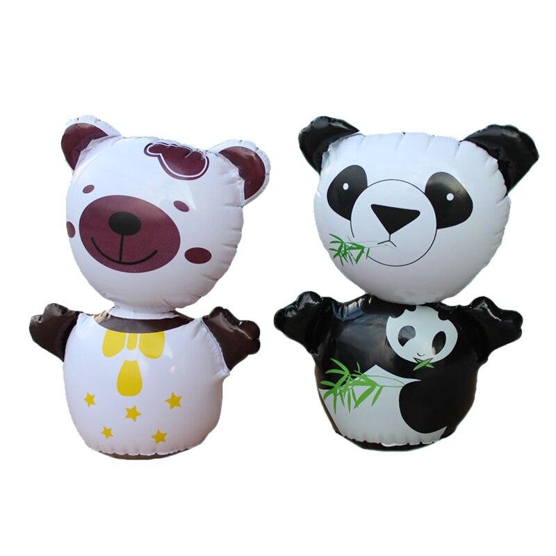 Mignon Stand Up Gonflable Panda & Ours De Boxe Poinçonnage Bop Sac Enfant Jouet Culbuteur Gonflable Blow Up Toy Cadeau D'anniversaire Supply parti