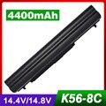 4400 mah bateria do portátil para asus k46cm k56 k56ca k56cb s56cm U48C U48CM U58C U58CM V550C V550CM VivoBook S550 S550C S550CA S550CM