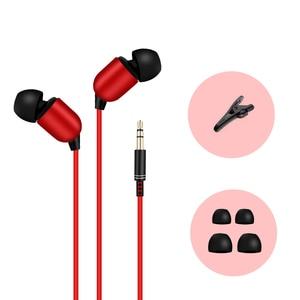 Image 2 - M & J 3M Kopfhörer Monitor Kopfhörer Mit Langen Draht 3,5mm Vergoldeten HiFi Stereo Universal Ohr Für iPhone 6S Xiaomi Computer