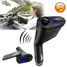 Car Auto Luz Verde USB Inalámbrico Kit de Coche Tr ansmitter Reproductor de MP3 Para SD MMC LCD Remoto FM Transmite ter modulador