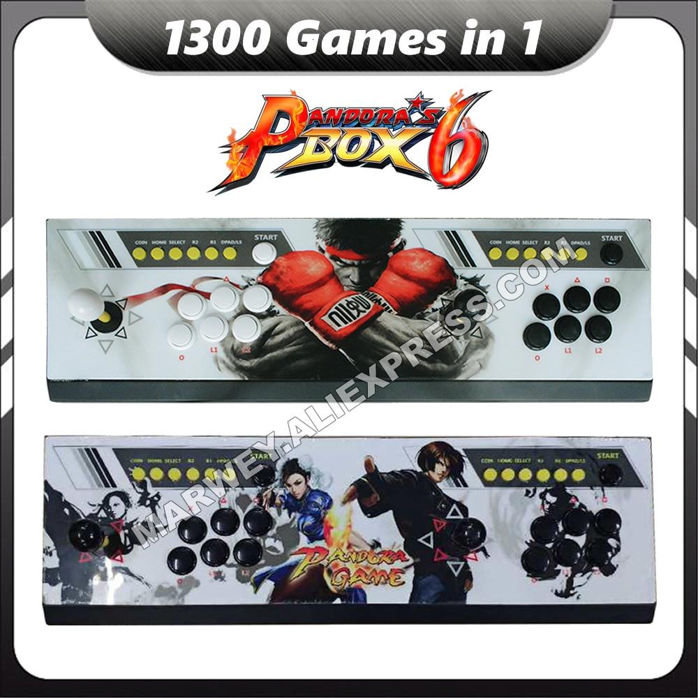 Marwey Pandora's Box 6 1300 in 1 Jamma Arcade Game Console USB Joystick Arcade Push Buttons Zero Delay HDMI VGA HD for TV PS3 PC